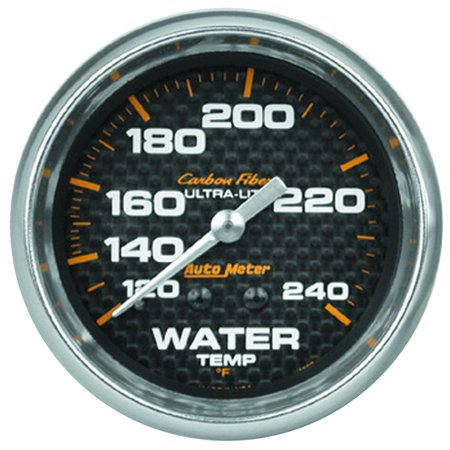 AutoMeter 4832 Carbon Fiber Mechanical Water Temperature - Carbon Fiber Mechanical Water