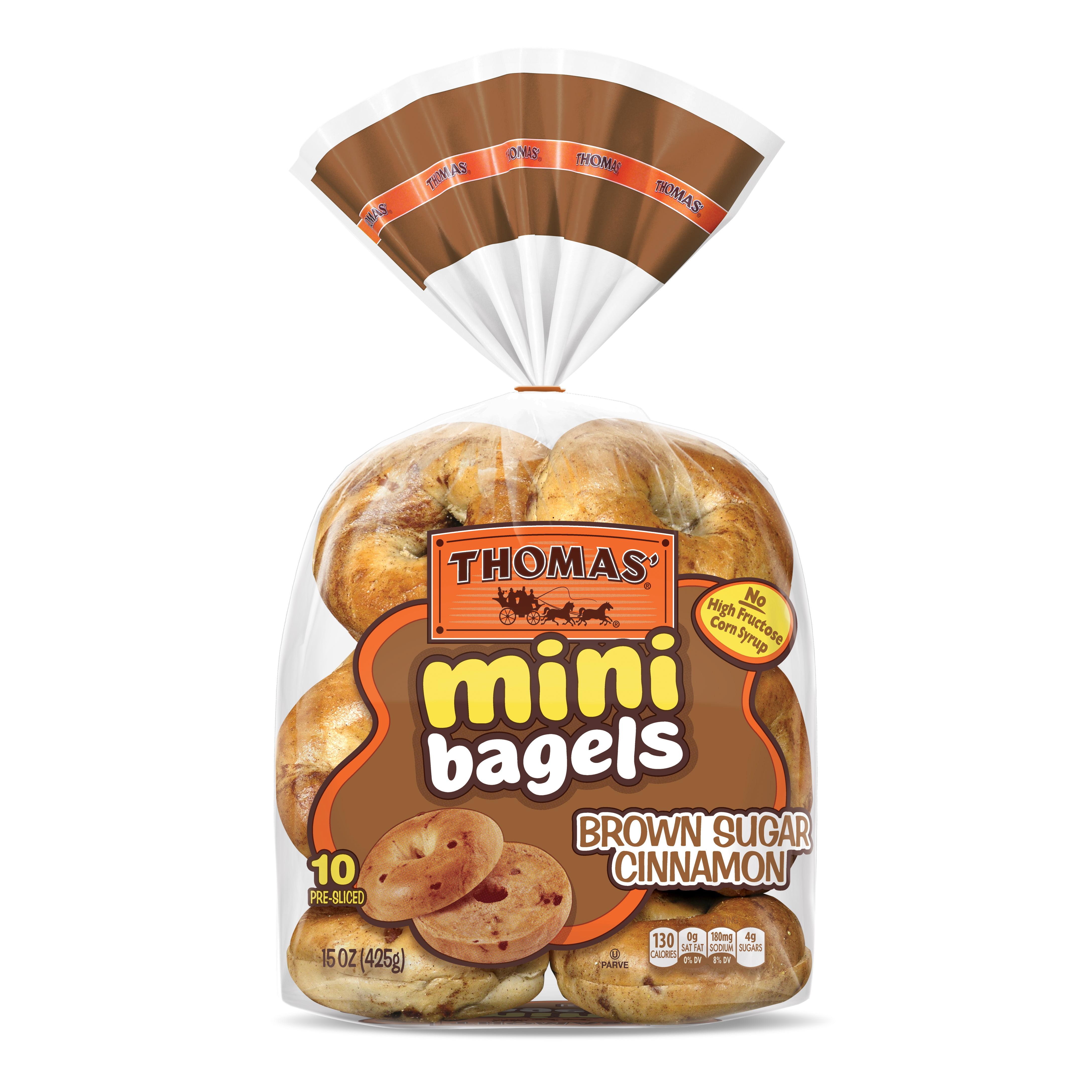 Thomas' Brown Sugar Cinnamon Mini Bagels, 10 count, 15 oz