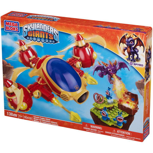 Mega Bloks Skylanders Giants Arkeyan Copter Attack Play Set 95418