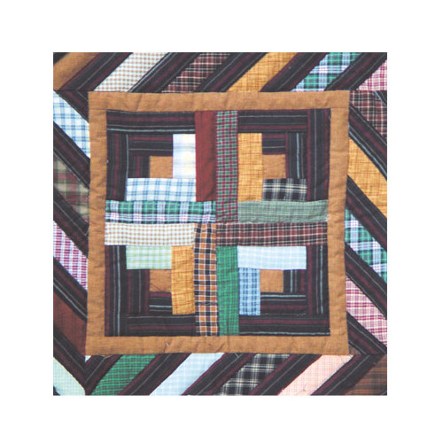 Patch Magic Dusty Diamond Log Cabin Cotton Throw Pillow