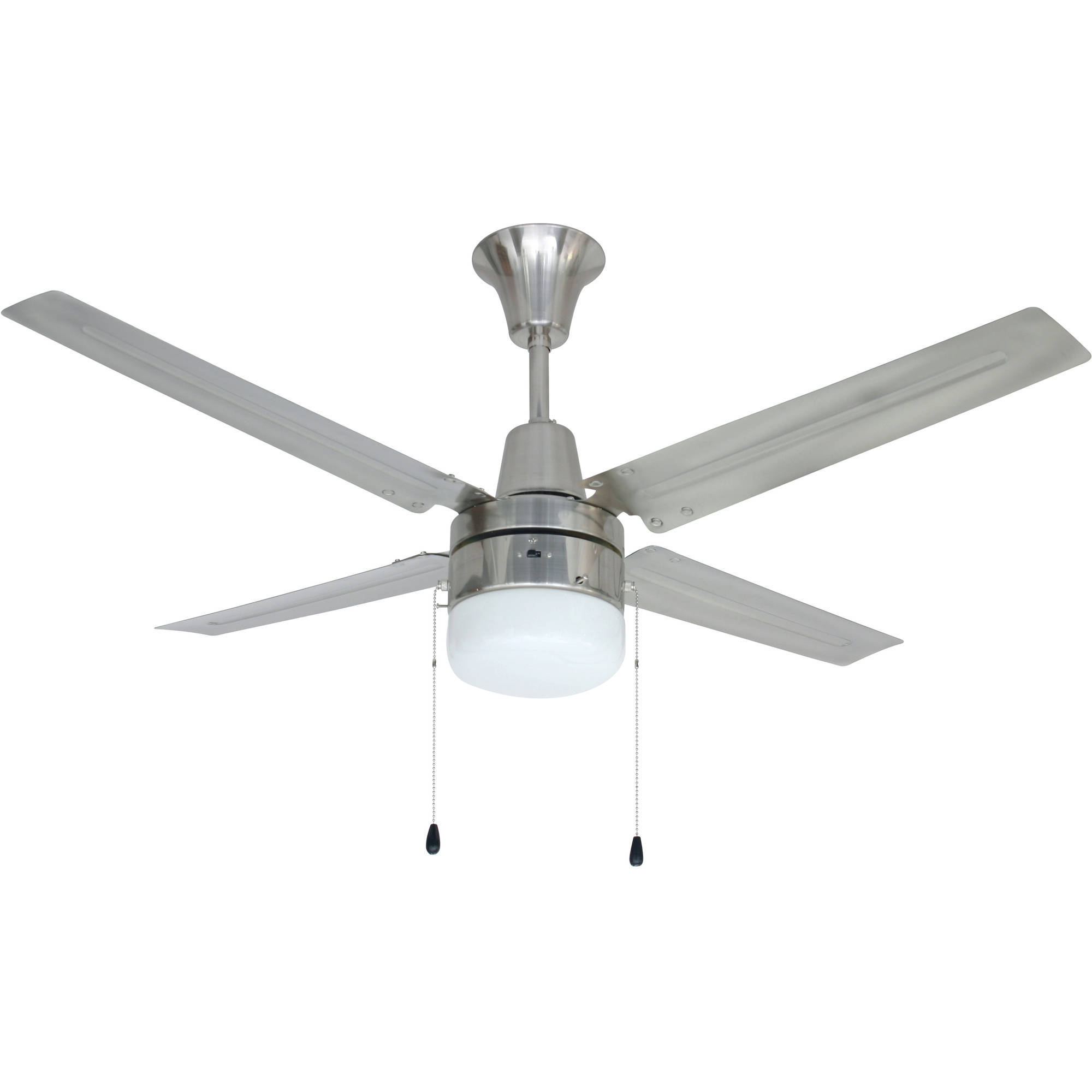 "Litex Industries Urbana 48"" Hangdown Ceiling Fan Brushed Chrome"