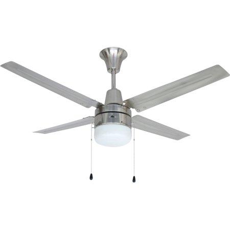 Litex Industries Urbana 48 Hangdown Ceiling Fan Brushed