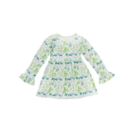St Pattys Day Outfit (Toddler Girls St. Patrick's Day Dress or Toddle Girl Suspender & Skirt 2 Piece Boutique Outfit So)