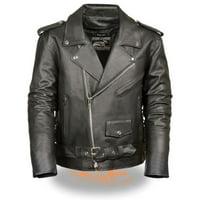 Milwaukee Event Mens Classic Side Lace M/C Jacket Black
