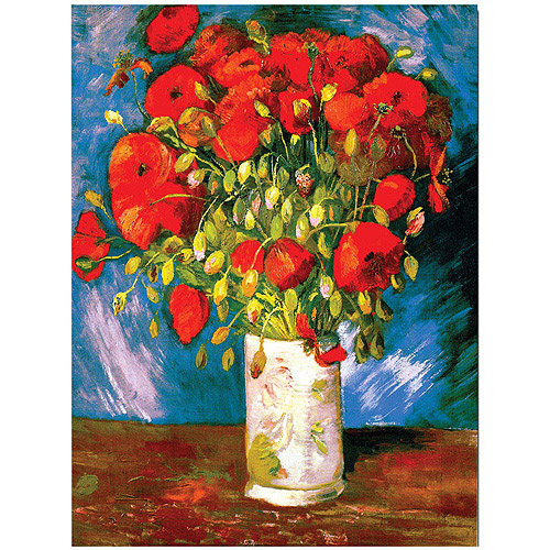 """Poppies"" Giclee Canvas Art"