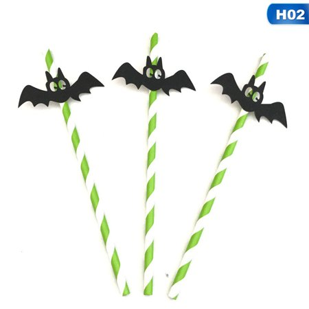AkoaDa 10Pcs Halloween Straws Shooting Props Funny Personality Party Tableware Fun - Tv Personalities For Halloween