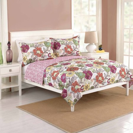 Better homes and gardens passion flower bedding quilt for Better homes and gardens bed in a bag