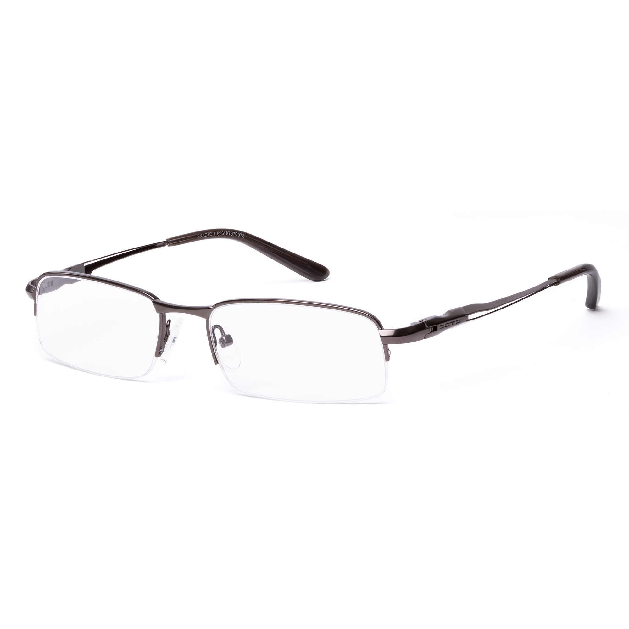 OCTO180 Mens Prescription Glasses, Exacto I Lt. Mgun/Gun - Walmart.com