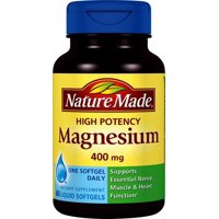 Nature Made High Potency Magnesium, 400 mg, 60 Ct