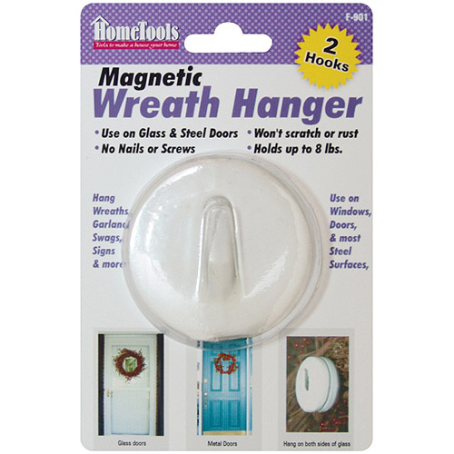 "Magnetic Wreath Hanger 2-1/2"", White"