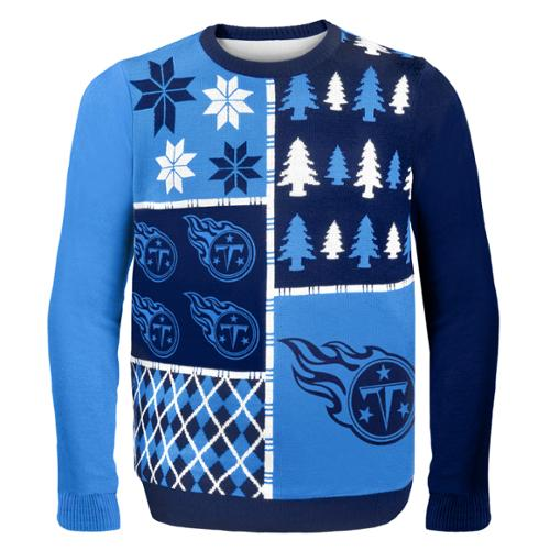 Tennessee Titans Busy Block NFL Ugly Sweater Large