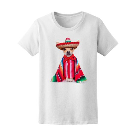 Mexican Chihuahua Dog Sombrero Tee Women's -Image by Shutterstock](Dog Sombrero)