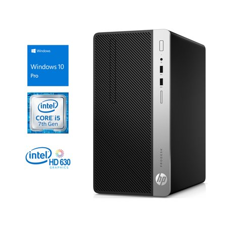 HP ProDesk 400 G4 Microtower Desktop, Intel Quad-Core i5-7500 Upto 3.8GHz, 8GB RAM, 256GB SSD, DVD-Writer, VGA, DisplayPort, Wi-Fi, Bluetooth, Windows 10 Pro