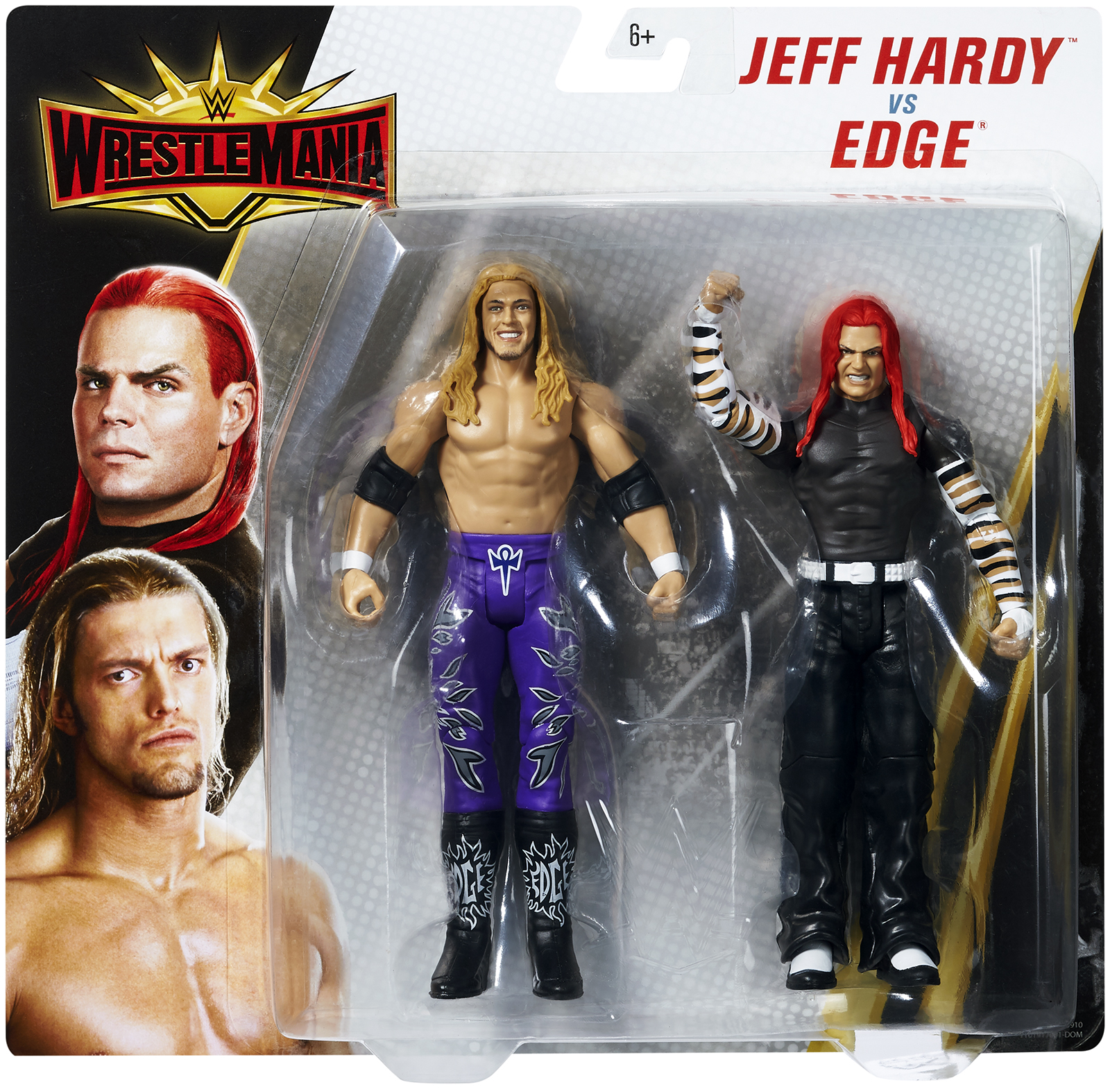 "Jeff Hardy & Edge - WWE Battle Packs ""WrestleMania 35"""" Toy Wrestling Action Figures"