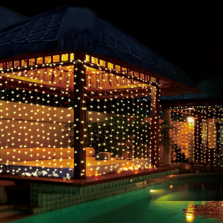 4 Pack 300 LED Curtain String Light
