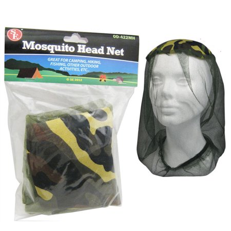 6 Pc Pocket Mosquito Proof Head Net Army Military Mesh Hat Bug