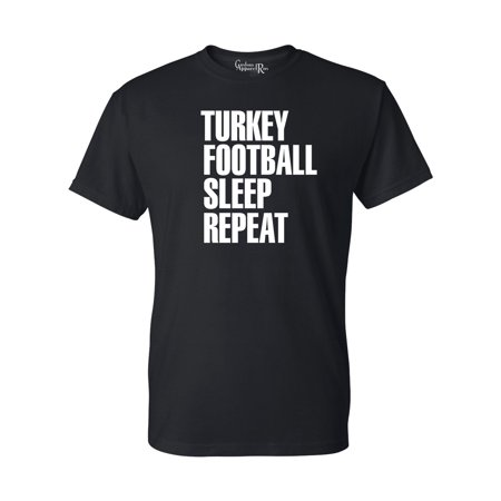 Turkey Football Sleep Repeat Mens Womens T-Shirt Top