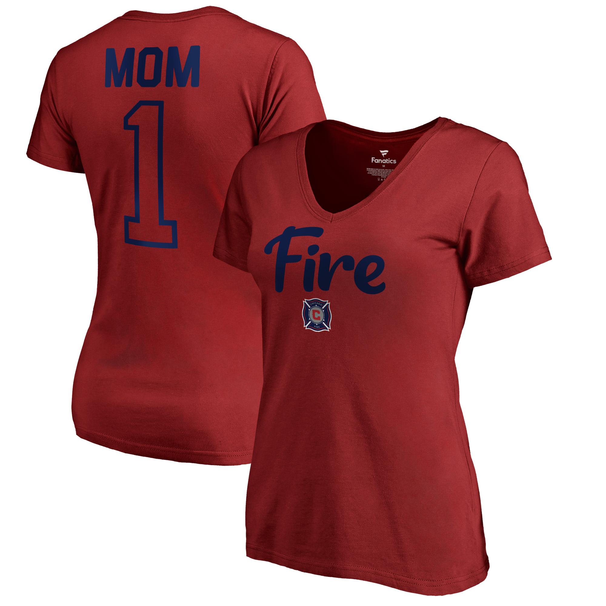 Chicago Fire Fanatics Branded Women's #1 Mom T-Shirt - Red