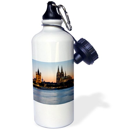 3Drose Cologne Skyline  Rhine  Gross St Marin  Dom  Germany   Eu10 Dbn0038   David Barnes  Sports Water Bottle  21Oz