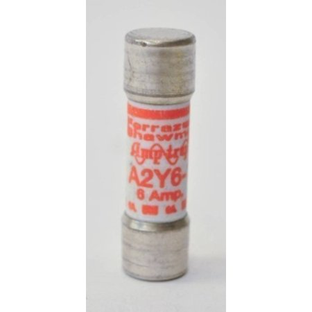 Ferraz Shawmut A2Y61 Lot of 10 New in Box Fuses 6 Amp 250V Amp-Trap Fuse NIB (Ferraz Shawmut Fuse)