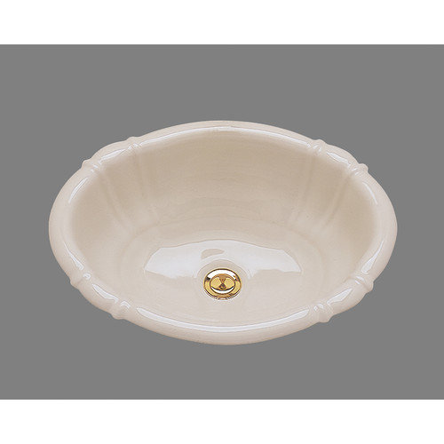 Bates & Bates Ceramics Georgia Drop In Bathroom Sink with Overflow