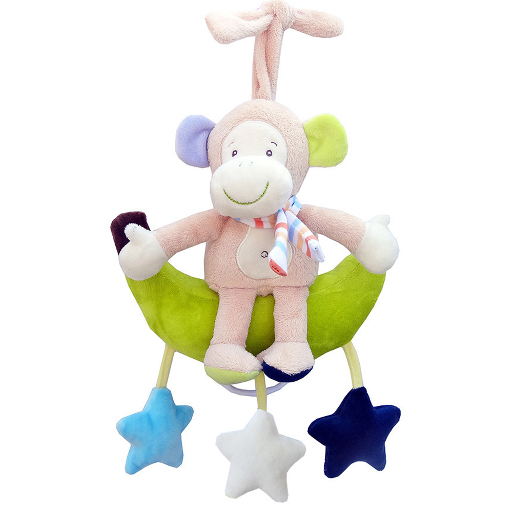 Baby Wind Up Musical Stuffed Animal Stroller Crib Hanging Bell With