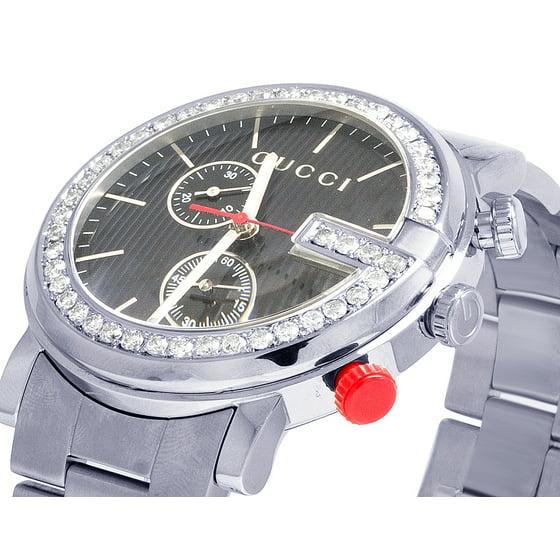 c514eb798e7 Gucci - Gucci Mens G-Chrono Gucci 44MM Black Dial Diamond Watch ...
