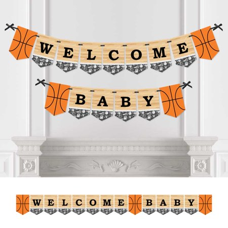 Nothin' But Net - Basketball - Baby Shower Bunting Banner - Sports Party Decorations - Welcome Baby](Basketball Banners)