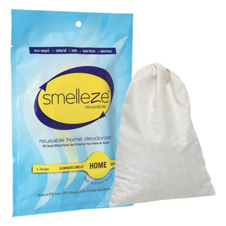 SMELLEZE Reusable Home Smell Removal Deodorizer Pouch: Rids Stinky Odor Without Scents in 200 Sq.