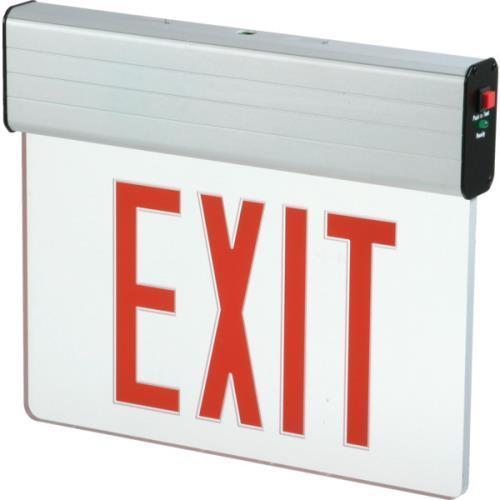 Cooper Lighting Sure Lites Led Edge-Lit Exit Sign Red
