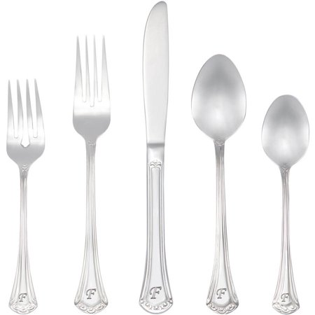 RiverRidge 46-Piece Monogrammed Flatware, Excelsior Pattern