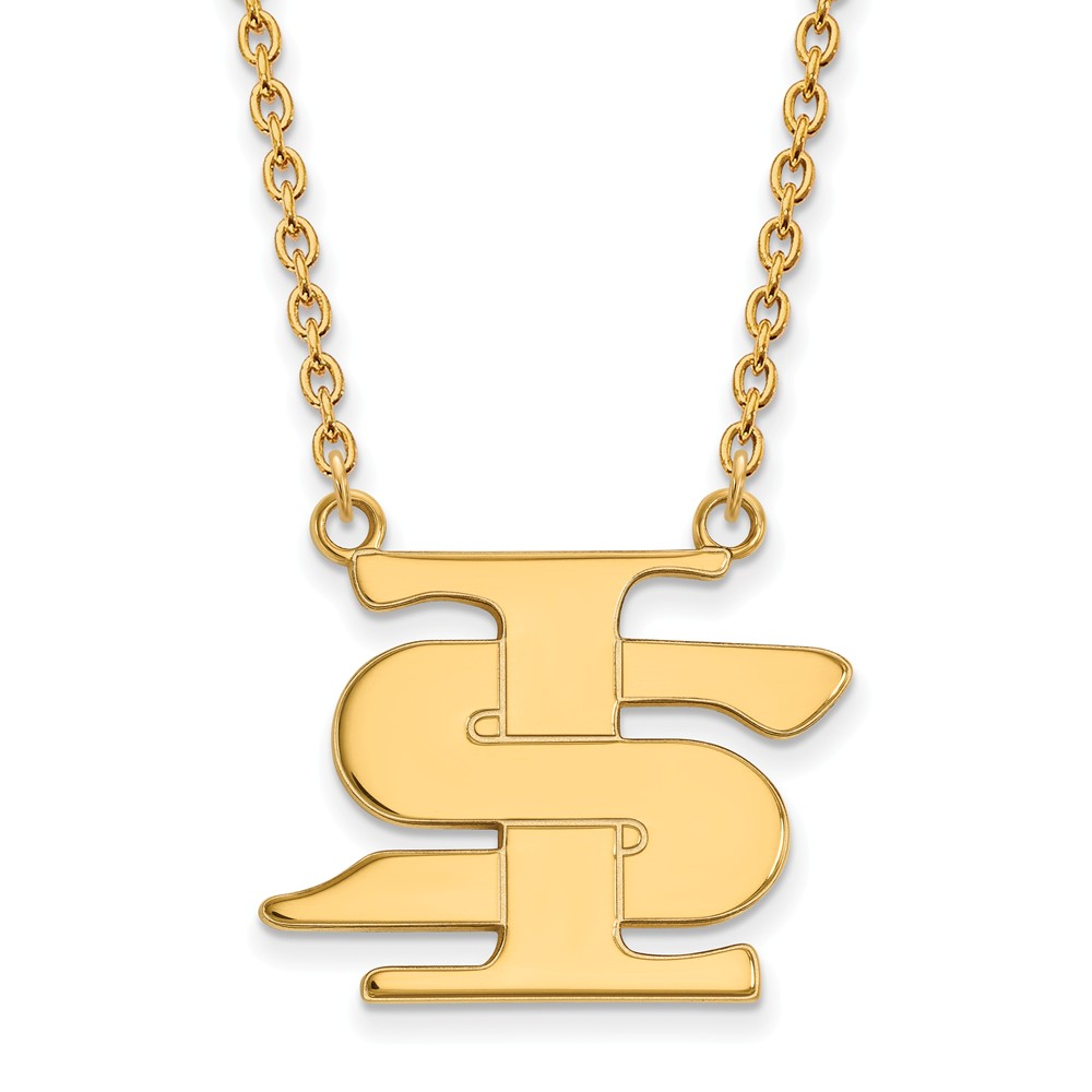 10k Yellow Gold Solid Indiana State Pendant