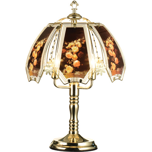 """ORE International 23.5"""" Rose Touch Lamp"""