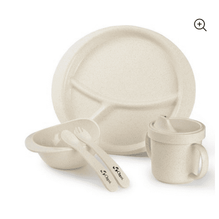 Ozeri Earth Dish Set For Kids, 100% Made from a Plant