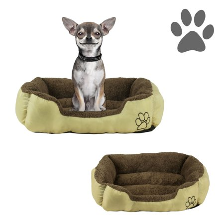 Small Dog or Cat Pet Bed Rectangle Plush Cuddler, 22