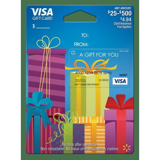 walmart visa gift card presents walmartcom - 500 Visa Gift Card