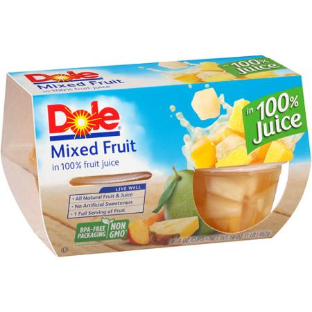 Dole Mixed Fruit In Light Syrup, 4 pk