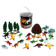 Dinosaur Action Figures Big Bucket of Dinosaurs Huge 30 Piece Set Full of Unique Fun by