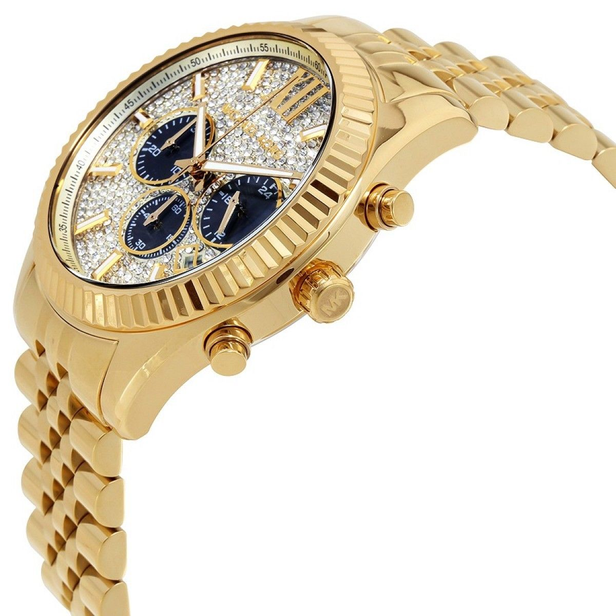 549918d895e4 Michael Kors - Men s Gold-Tone Lexington Chronograph Watch MK8494 -  Walmart.com