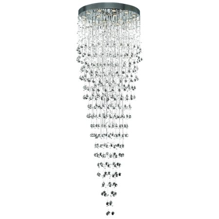 2006 Galaxy Collection Chandelier D:32in H:96in Lt:16 Chrome Finish (Swarovski® Elements Crystals)