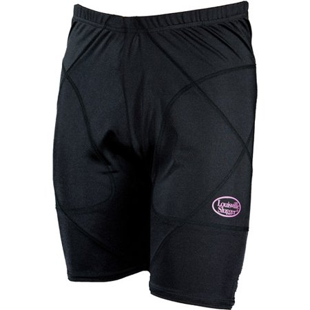 Louisville Slugger Women's Slugger Low-Rise Shield Sliding Shorts, Black