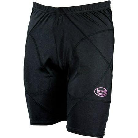 Louisville Slugger Women's Slugger Low-Rise Shield Sliding Shorts, Black