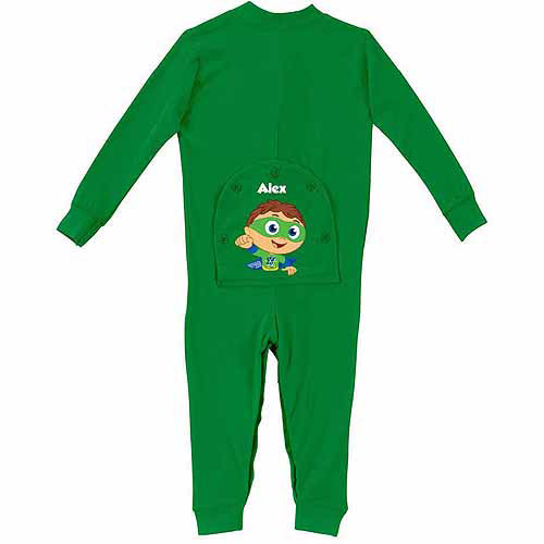 Personalized Super Why Toddler Green Long Johns Walmart Com