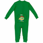 Personalized Super Why! Toddler Green Long Johns