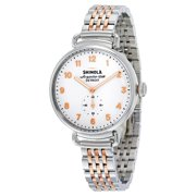 Shinola The Canfield White Dial Two-tone Stainless Steel Ladies Watch 12004468