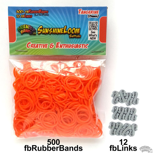 Friendly Bands Sunshine Bands Pack, Tangerine Orange