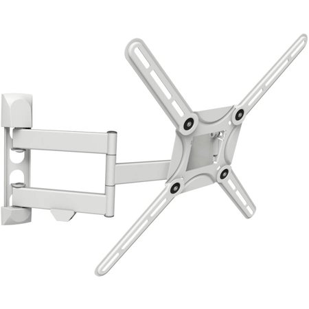 "Barkan 29""-65"" Full Motion-4 Movements, Curved / Flat TV Wall Mount , Dual-Arm, Patented, white, up to 88 lbs, Lifetime Warranty."