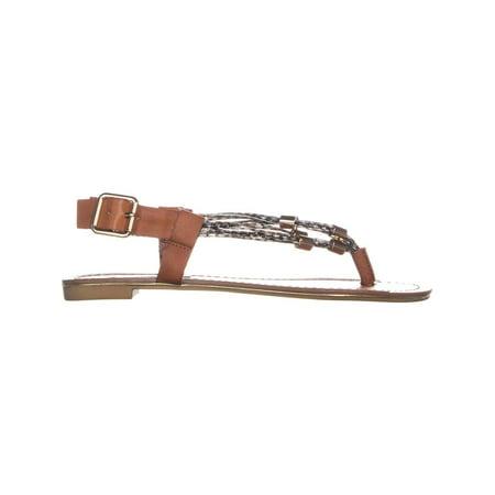 Steve Madden Foolish Flat Buckle Sandals, Cognac Multi - image 2 de 6