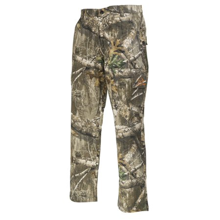 Realtree Edge Camo Cargo Pants by Hyde Gear 6 Pockets, Stretch Fabric, Water Repellent Finish, Outdoor, Hunting - M - Edge - Hunting Gear