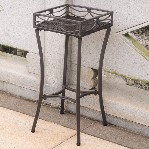 International Caravan Valencia Plant Stand in Chocolate